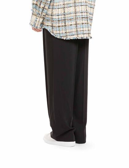 Logo Pleated Trousers