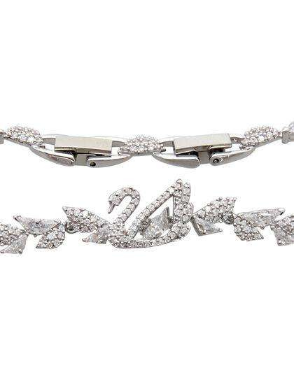 Sjc Dancing Swan-Bracelet Tlk Czwh/Rhs M