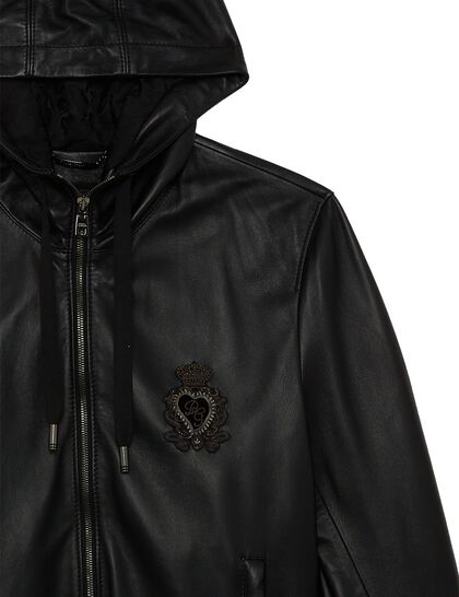 Hooded Zipped Vest Crest Chest