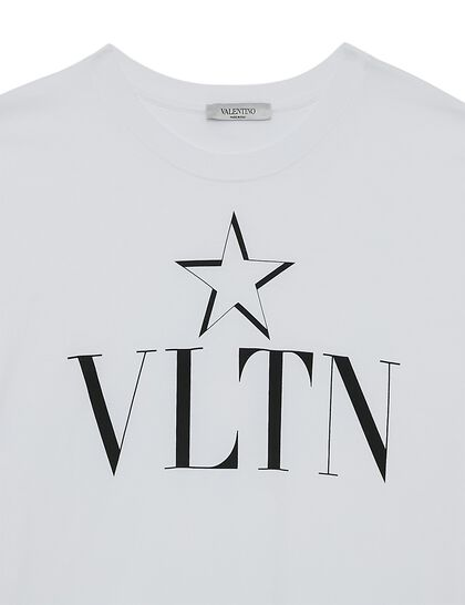 VLTN Logo Star Cotton T-shirt