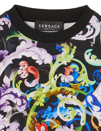 Baroque Print Detail Sweatshirt