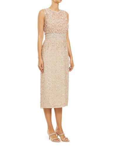 Sequin Column Midi Dress