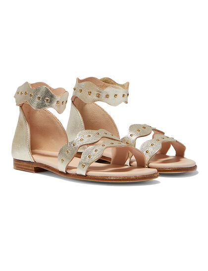 Scalloped Edge Sandals