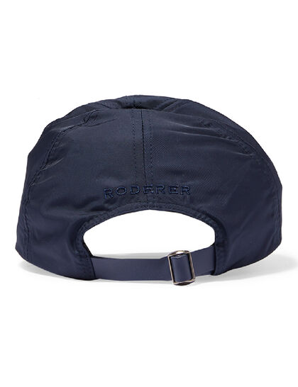 Stellar Nylon Baseball Cap – Navy Blue – Embroidered Logos