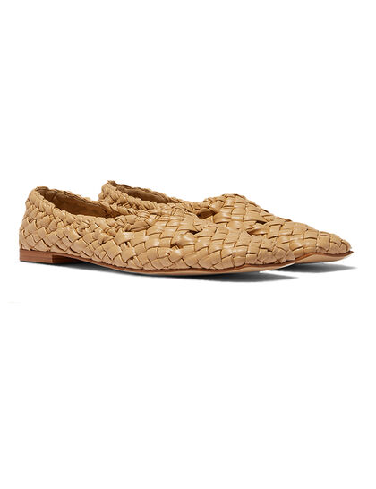 Woven Flat Loafers