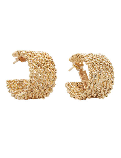 Gold Plated Multi Twisted Hoop Earrings