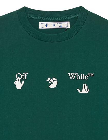 Big Ow Logo S/S Slim Tee Dark Green Whit