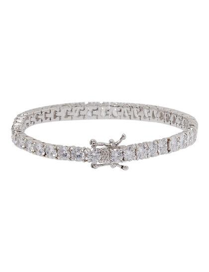 Silver Row Bracelet