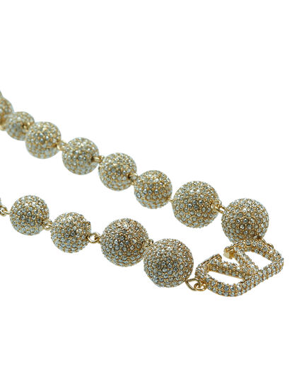 VLOGO Swarovski Ball Necklace