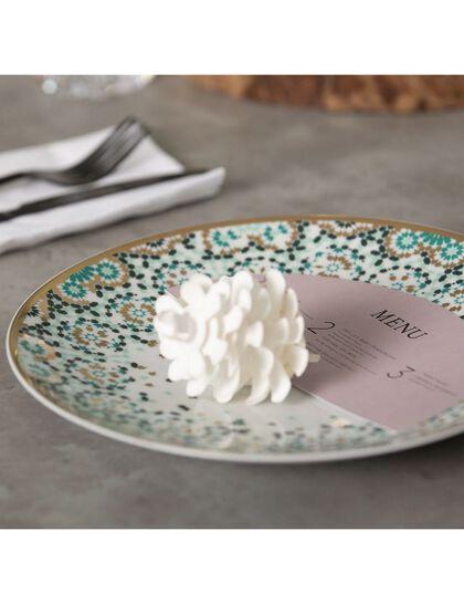 Mirrors Salad Plate - Emerald