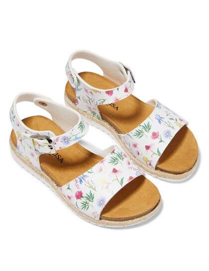 Floral Print Sandals