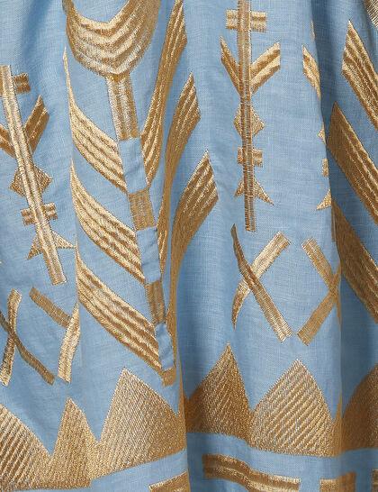 Tiered Linen Dress