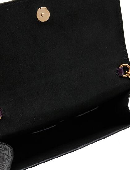Skull Croc-Embossed Mini Bag