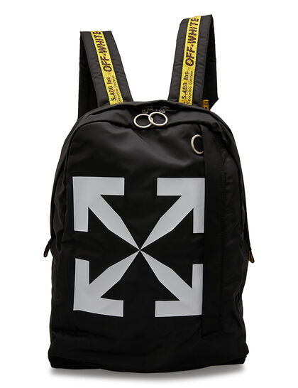 Arrow Print Backpack - Black