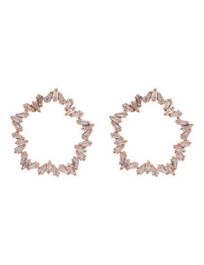 Kjy Rose Gold Earring