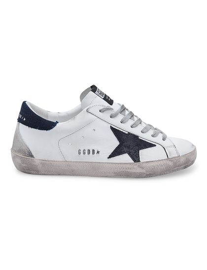 Super-Star Leather Upper Suede Star Denim Heel