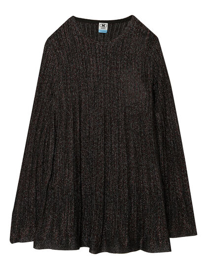 Pleated Flared Sweater