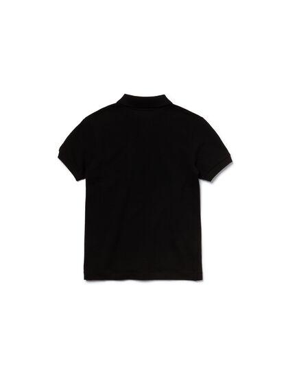 Short Sleeved Ribbed Collar Shirt
