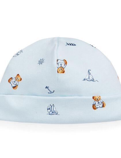 Bear Print Baby Hat