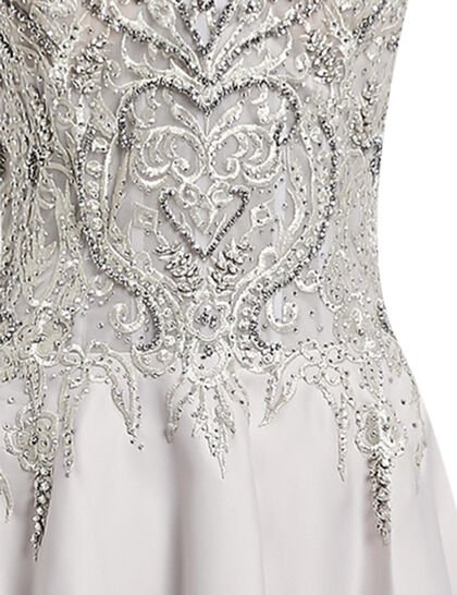 Beaded Top Mikado Gown