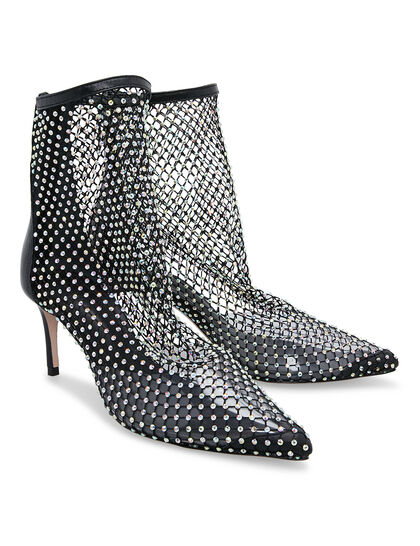 Sock Boot Gilda Crystal Glam Black