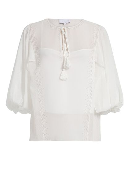 Monmouth Tie Front Top