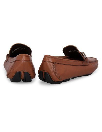 Leather Gancini Moccasin