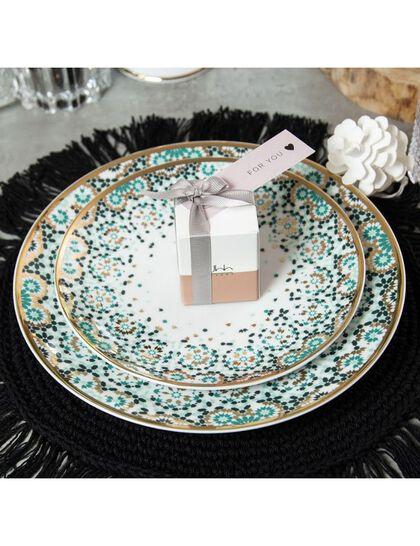 Mirrors Dinner Plate - Emerald