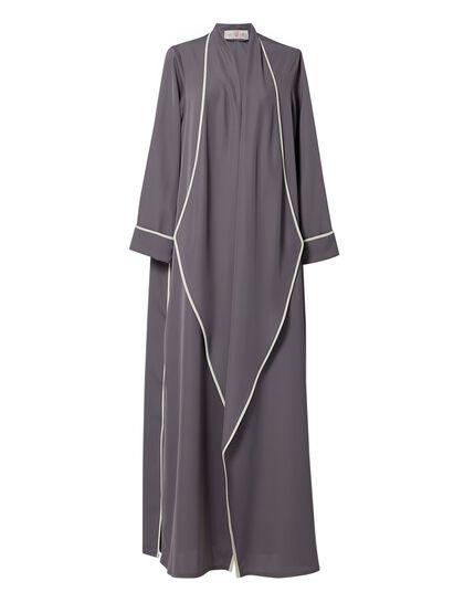 Contrast Piping Abaya