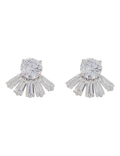 Stone Fringe Cut Earrings