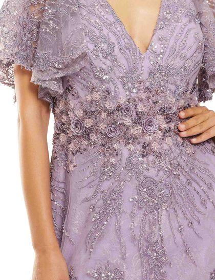 Lace Column Gown