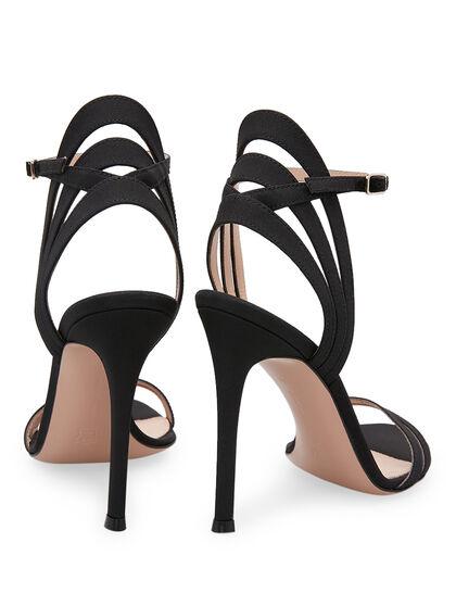 Suede Strap Sandals - Black
