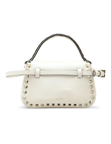 Two-Way Rockstud Top Handle Bag