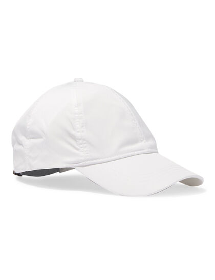 Stellar Nylon Baseball Cap – White – Embroidered Logos