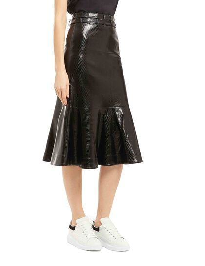 Leuca Faux Leather Skirt