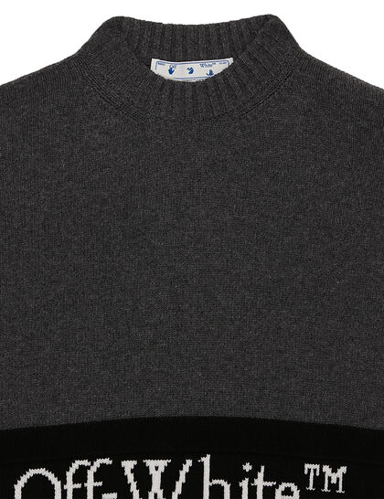 Color Block Off Crewneck