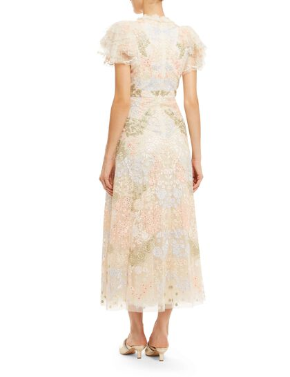 Elin Blossom Ankle Gown