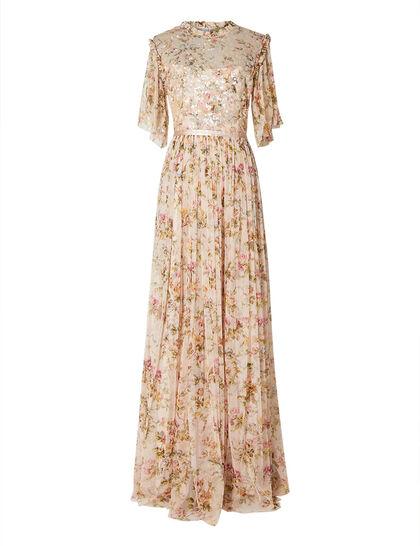 Garland Flora Ruffle Gown