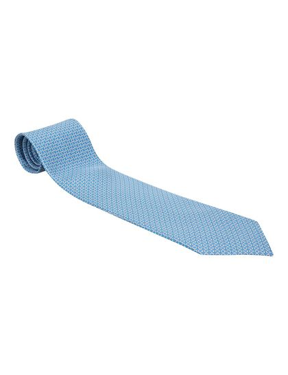Gancini Printed Tie