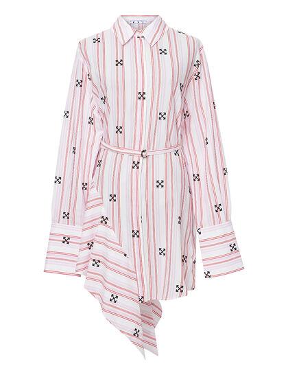 Arrow Print Asymmetric Dress