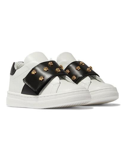 Medusa Stud Leather Sneakers