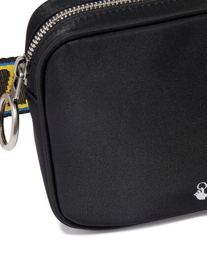 Ow Logo Double Nylon Bodybag Black White