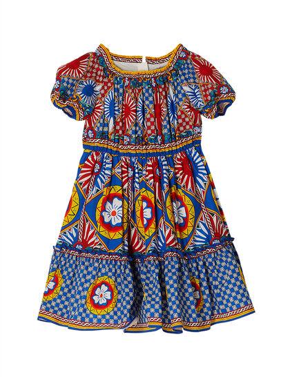 Flared Printed Dress