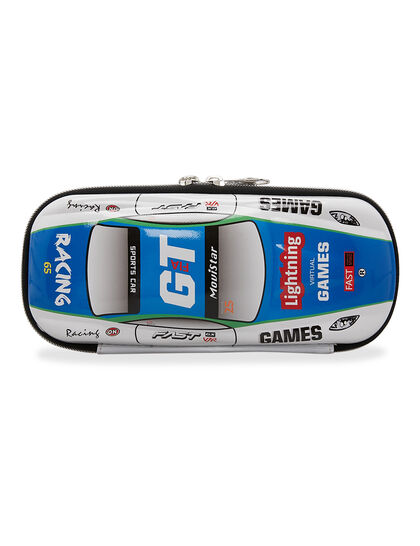 Racing Car Pencil Case Multiple Zipper Case Inner Compartments And Mesh Pockets