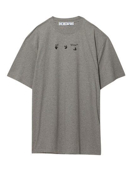 Blue Marker S/S Over Tee Melange Grey Bl