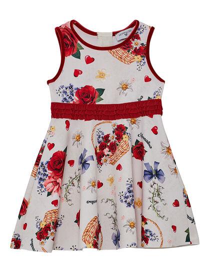 Dress Sleeveless Red Flower