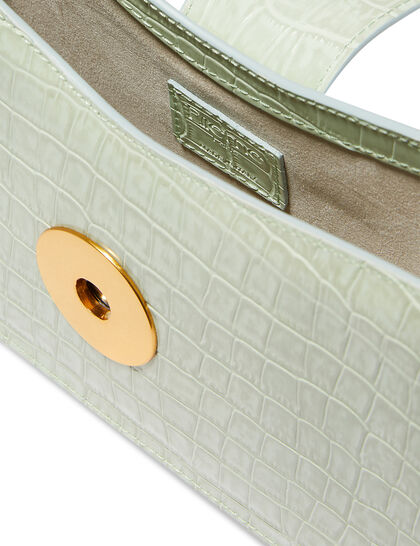 Baguette Croc Embossed Bag