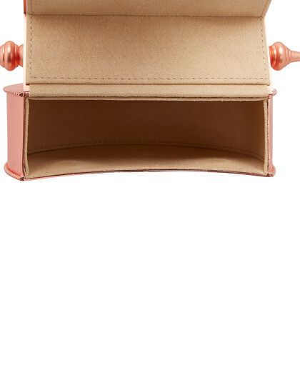 Palmette Minaudiere Oval All Brass Rose Gold