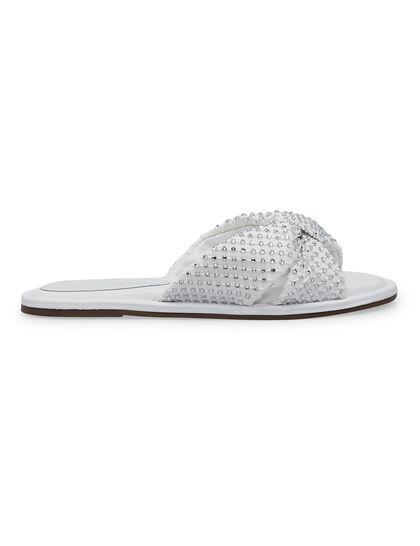 Flat Knot Studded Sandals