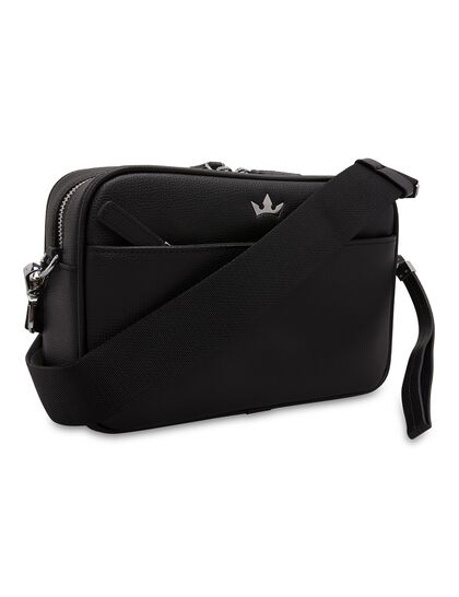 Award Messenger Bag - Italian Leather Black